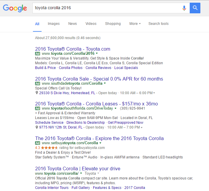 car sell google result