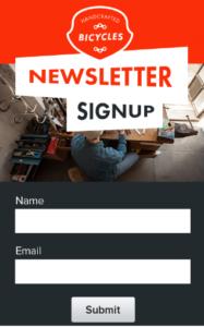 email signup setup service